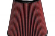 "AIRAID® 700-445 - Red SynthaFlow Cone Air Filter (4.5"" F x 8"" B x 5"" D x 7.5"" H)"