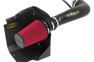AIRAID® 200-197 - Cold Air Dam Intake System with Red SynthaFlow Air Filter and Intake Tube