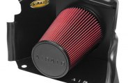 AIRAID® 201-183 - Cold Air Dam Intake System with Red SynthaMax Air Filter without Intake Tube