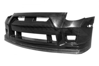 AIT Racing® - GTR Style Front Bumper Cover with Carbon Fiber Lip