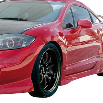 AIT Racing® - Black Out 2 Style Fiberglass Side Skirts (Unpainted)