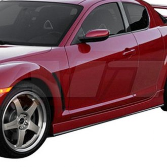 AIT Racing® - MS Style Fiberglass Side Skirts (Unpainted)