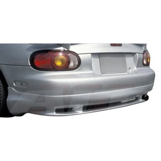 AIT Racing® - Wiz Style Fiberglass Rear Bumper Skirts (Unpainted)