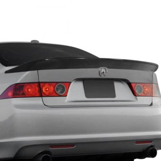 2004 acura tsx spoilers custom factory lip wing spoilers ait racing mgn style fiberglass rear spoiler unpainted sciox Images