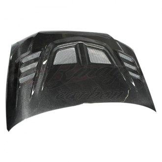 ait racing r1 style functional cooling carbon fiber hood - Mitsubishi Lancer Custom