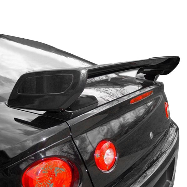AIT Racing® - SS Style Fiberglass Rear Spoiler with Carbon Fiber Blade