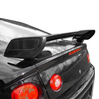 AIT Racing® - SS Style Fiberglass Rear Spoiler with Carbon Fiber Blade (Unpainted)