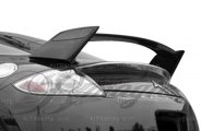 AIT Racing® - Black Out Style Rear Spoiler with Carbon Fiber Blade
