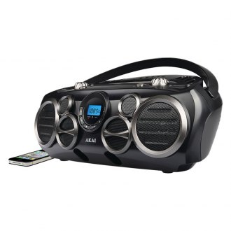 AKAI® - Bluetooth CD Boom Box AM/FM Digital Read Out with 6 Speakers