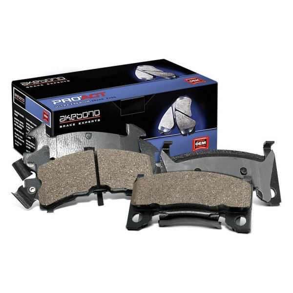 Image may not reflect your exact vehicle! Akebono® - Pro-ACT™ Ultra-Premium Ceramic Front Disc Brake Pads