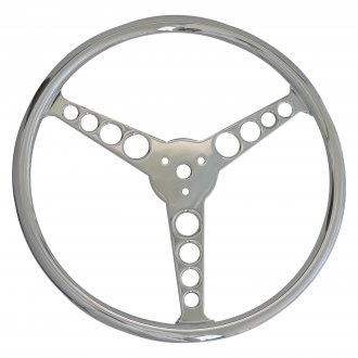 All American Billet® - 3-Spoke Classic Style Aluminum Steering Wheel for 3-Bolt Pattern Column