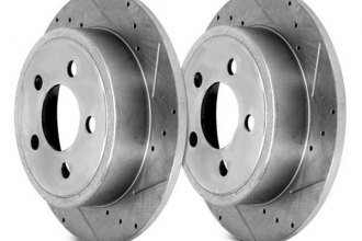 Alloy USA® - Slotted and Cross Drilled Rear Rotors