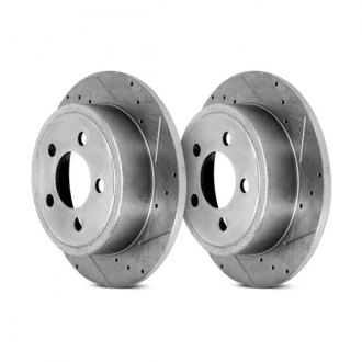 Alloy USA® - Slotted And Cross Drilled Disc Brake Rotors