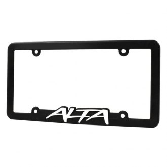 ALTA Performance® - Black License Plate Frame with White Alta Logo