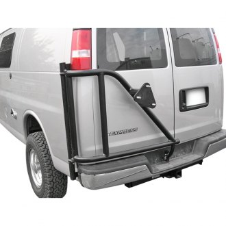 Chevy van spare tire carriers rear door mount carid aluminess van spare tire carrier publicscrutiny Gallery