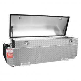 Aluminum Tank Industries® - Combo Auxiliary Notched Fuel Transfer Tank with Toolbox