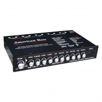 American Bass® - 7-Band Parametric Equalizer with Digital Display