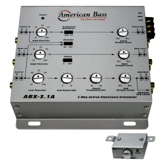American Bass® - 3-Way Active Crossover