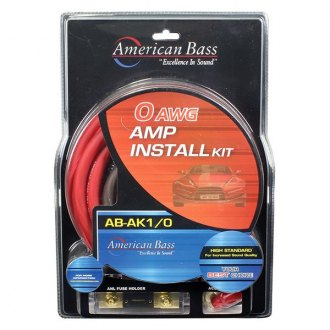American Bass® - Amplifiers Wiring Kit with ANL Fuse and Holder