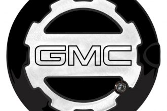 ABD® ABD-1306GMCLGGBA - Two Toned Gloss Black OEM Paint Locking Fuel Door with GMC Logo