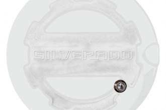 ABD® ABD-1306SOLGGAZ - Two Toned Summit White Locking Fuel Door with Silverado Logo