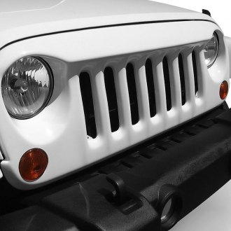American Fastbacks® - 1-Pc Patriot Style White Main Grille