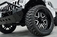 AMERICAN FORCE® - ALFA SF5 Flat Black with Machined Windows on Jeep Wrangler