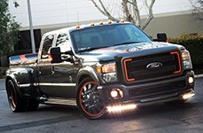 AMERICAN FORCE® - STRIKE DUALLY with Adapter Flat Black on Ford F-350