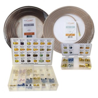 AGS® - NiCopp Brake Line Coil and Fitting Assortment Kit