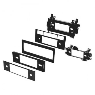 American International® - Single DIN Black Stereo Dash Kit with 1/2 DIN EQ Opening