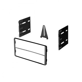 American International® - Double DIN Black Stereo Dash Kit with ISO Mounting Brackets