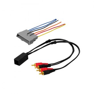 American International® - Aftermarket Radio Wiring Harness with OEM Plug and Amplifier Integration, Low Level Input