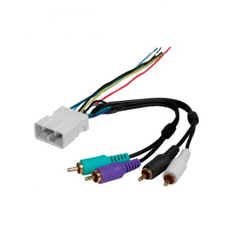 American International® - Aftermarket Radio Wiring Harness with OEM Plug Low level input