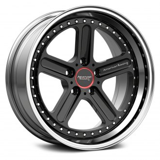 AMERICAN RACING® - VF310C Black with Polished Lip