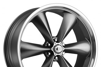 "AMERICAN RACING® - TORQ THRUST ST Magnesium Gray with Machined Lip (20"" x 8.5"", +30 Offset, 6x139.7 Bolt Pattern, 78.3mm Hub)"
