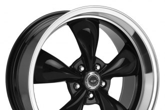 "AMERICAN RACING® - TORQ THRUST M Gloss Black with Machined Lip (17"" x 7"", 0 Offset, 5x120.65 Bolt Pattern, 72.6mm Hub)"