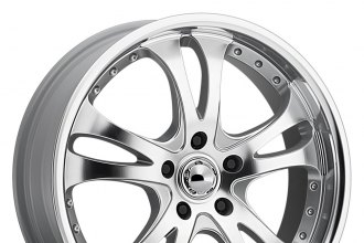 "AMERICAN RACING® - CASINO Silver with Machined Face and Lip (17"" x 7.5"", +45 Offset, 5x114.3 Bolt Pattern, 72.6mm Hub)"