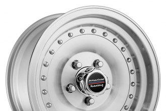 "AMERICAN RACING® - OUTLAW I Machined Silver with Clear Coat Powder (15"" x 7"", -6 Offset, 5x120.65 Bolt Pattern, 83.06mm Hub)"