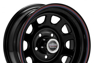 "AMERICAN RACING® - AR767 Gloss Black with Red and Blue Stripe (15"" x 8"", -11 Offset, 5x120.65 Bolt Pattern, 72.6mm Hub)"