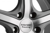 AMERICAN RACING® - MAVERICK Anthracite with Machined Face Close-Up