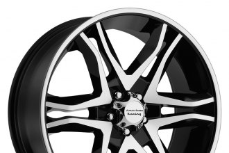 "AMERICAN RACING® - MAINLINE Gloss Black with Machined Face (20"" x 8.5"", +35 Offset, 6x139.7 Bolt Pattern, 106.25mm Hub)"