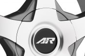 AMERICAN RACING® - AR895 Dark Silver with Machined Face Close-Up