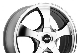 "AMERICAN RACING® - AR895 Dark Silver with Machined Face (15"" x 7"", +35 Offset, 5x100 Bolt Pattern, 72.6mm Hub)"