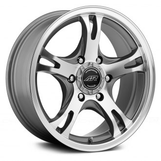 AMERICAN RACING® - AR898 Dark Silver with Machined Face