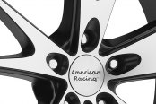 AMERICAN RACING® - AR903 Gloss Black with Machined Face Close-Up
