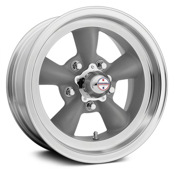 AMERICAN RACING® - VN105D TORQ THRUST D Gray with Machined Lip
