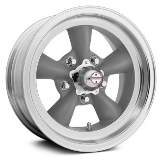AMERICAN RACING® - VN105D TORQ THRUST D 1PC Gray with Machined Lip