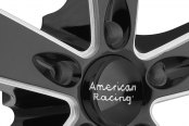 AMERICAN RACING® - BURNOUT Gloss Black with Milled Spokes and SS Lip Close-Up