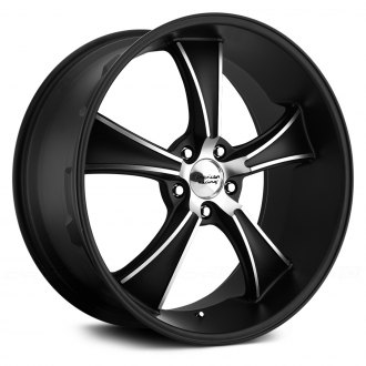 AMERICAN RACING® - BLVD Satin Black with Machined Face