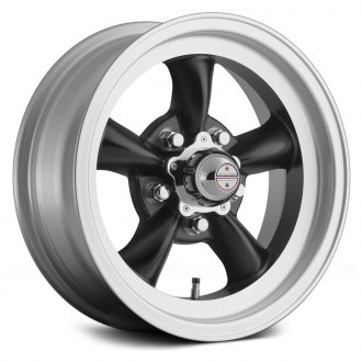 AMERICAN RACING® - VN105D TORQ THRUST D 1PC Satin Black with Machined Lip